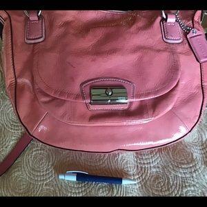 Pink shoulder bag.  Extra large.  Coach